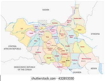 South Sudan Map Images Stock Photos Vectors Shutterstock
