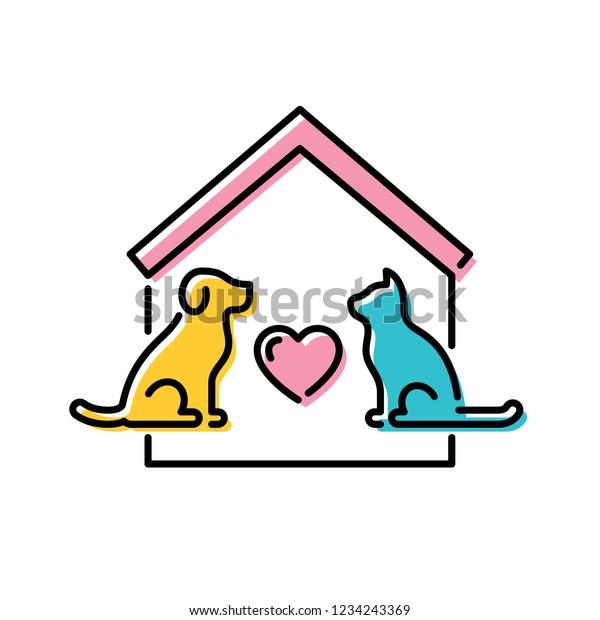 Vector Adopt Pet Design Poster Cat Stock Vector Royalty Free 1234243369