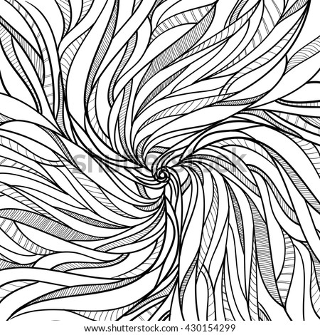 Vector Adult Coloring Page Abstract Background Black And White