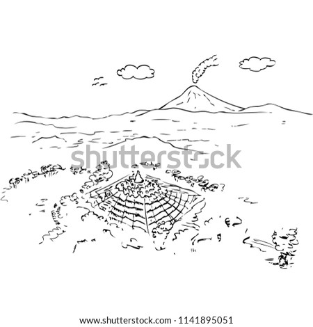 Vector Aerial View Hand Draw Sketch Stock Vector Royalty Free
