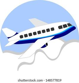 Vector aeroplane cartoon