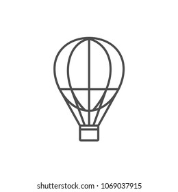 Vector aerostate line icon air balloon line icon