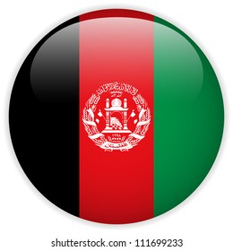 Vector - Afghanistan Flag Glossy Button