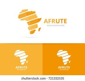 Vector africa logo combination. Safari symbol or icon. Unique continent logotype design template.