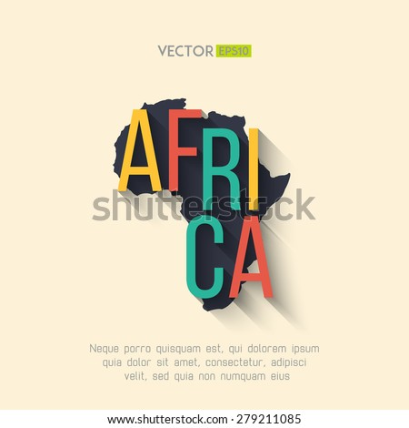 Vector Africa Map Flat Design Africa Stock Vector Royalty Free