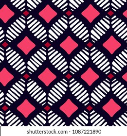 Vector African pattern (seamless tiling). Seamless pattern can be used for wallpaper, pattern fills, web page background,surface textures. seamless background