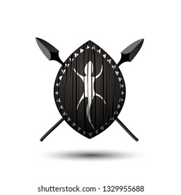 vector african shield creative logo