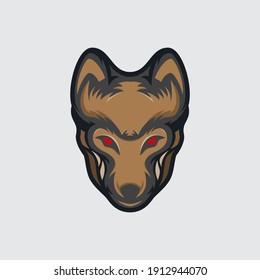 vector an aggressive wolf gaze