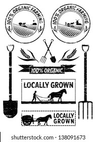 Vector of agriculture labels