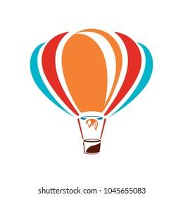 vector air balloon icon, ballooning adventure fly, travel leisure