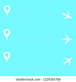 Vector Airplane with toute line. Travel illustration VECTOR ILLUSTRATION EPS10