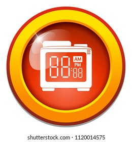 vector alarm clock, digital clock countdown illustration isolated, time icon