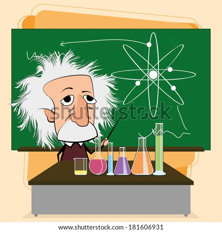 Vector Albert Einstein Cartoon