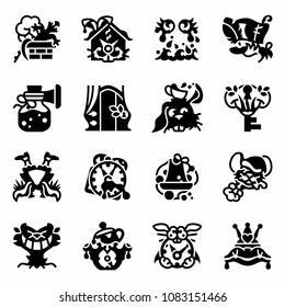 Vector Alice in Wonderland icon set