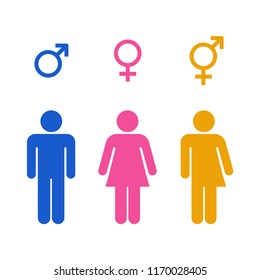 Vector all gender restroom icon colorful