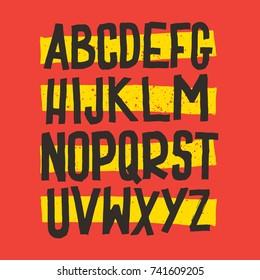 Vector Alphabet. Custom Letters. Lettering and Custom Typography for Designs: Logo, for Poster, Handwritten font