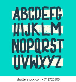 Vector Alphabet. Custom Letters. Lettering and Custom Typography for Designs: Logo, for Poster, Invitation, Handwritten font