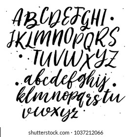 Vector Alphabet. Hand Lettering and Typography for Designs: Logo, for Poster, Invitation, etc.