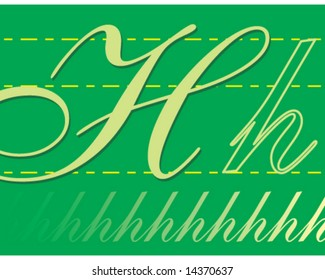 vector alphabet letter card h