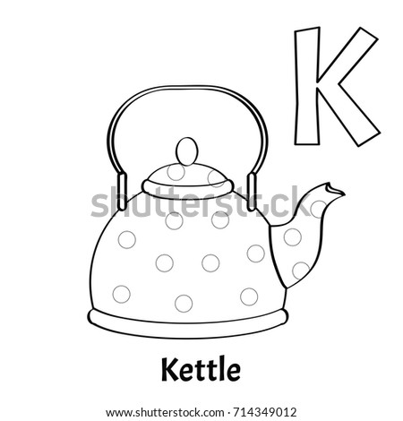 Vector Alphabet Letter K Coloring Page Stock Vector Royalty Free