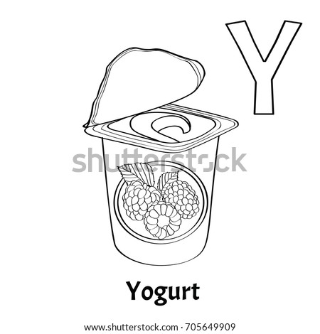 vector alphabet letter y coloring page stock vector royalty free