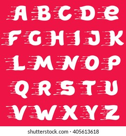 Vector alphabet made of milk. Vector design template elements for your poster or corporate identity.