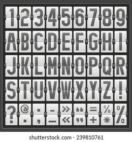 vector alphabet of mechanical panel