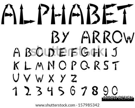 Vector Alphabet Set By Arrow Stock Vector Royalty Free 157985342