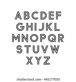 Geometric Outline Fonts Stock Illustrations, Images & Vectors