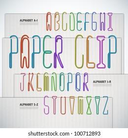 Vector Alphabet Shaped Paper Clip