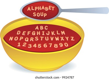 vector Alphabet Soup! Easily edit to spell your own message!