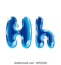 vector alphabetical water letter H