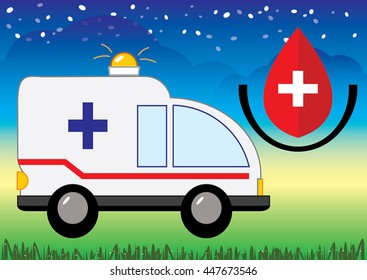 Vector of  ambulance emergency car design