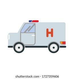 Vector ambulance for medical and healthcare concept ,flat design vector illustration.