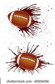 vector america football and ink