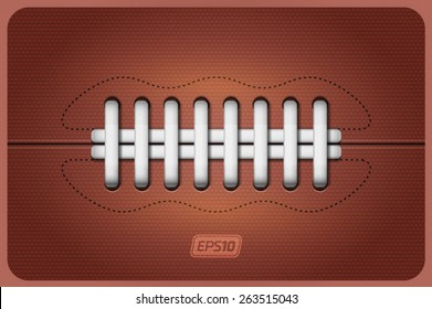 Vector american football ball leather texture