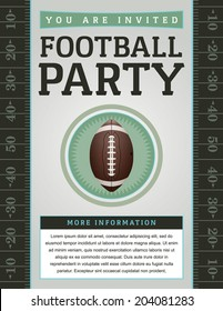 A vector American Football flyer design perfect for tailgate parties, football invites, etc. EPS 10. EPS file contains transparencies. Text has been converted to outlines and is on its' own layer.
