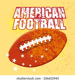 Vector American Football With Grunge Backgrounds