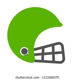 vector American football helmet illustration isolated - sport icon