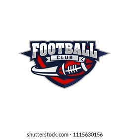 Vector American Football logos and insignias. Vector isolated sport icon design illustration