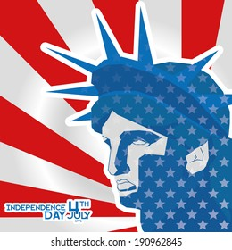 Vector American Independence Day Background Editable Template