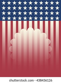 vector american independence day with empty area for text