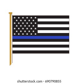 Vector American Police Flag