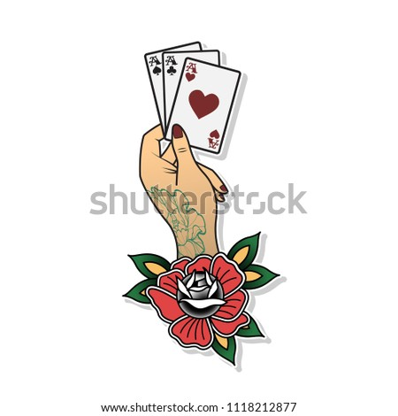 Vector American Traditional Tattoo Design Arm Stock Vector Royalty