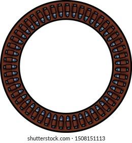 Vector ammunition belt running in a circle.