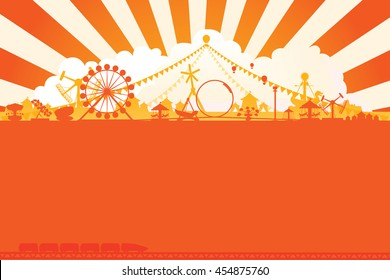 Vector of amusement park background