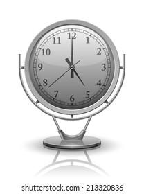 Vector Analog Clock conceptual, 3D modern construction, Vector illustration Eps 10