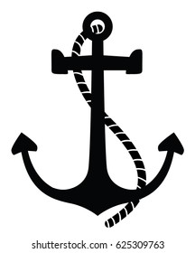 Vector anchor. Isolated background.