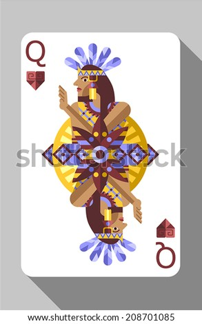 Vector Ancient Aztec Symbols Decorations Playing Stock Vector
