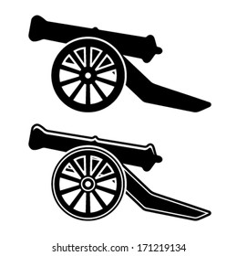 vector ancient cannon symbol